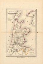 Historische kaart, plattegrond van Provincie Noord Holland uit 1867 door Kuyper van Kaartcadeau.com