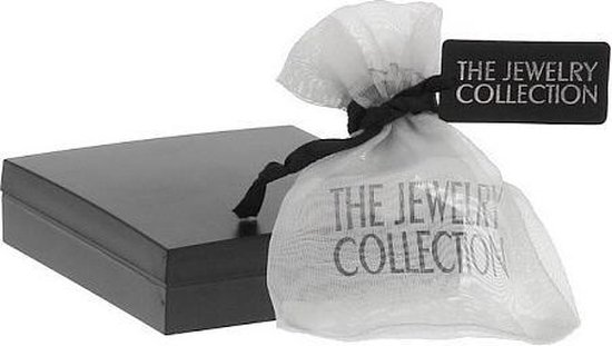 The Jewelry Collection Hanger Hart Zirkonia - Geelgoud (14 Krt.) - The Jewelry Collection