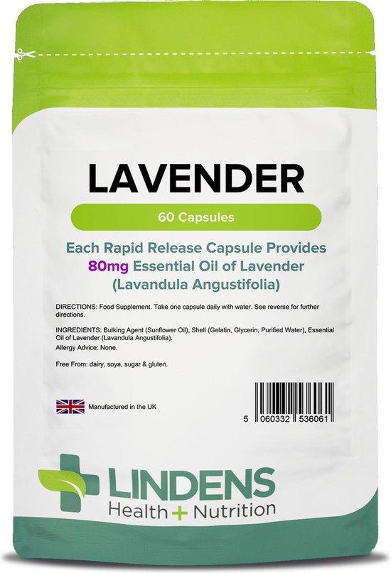 Lindens - Lavendel etherische olie 80mg - 60 capsules