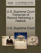U.S. Supreme Court Transcript of Record Helvering V. Hallock