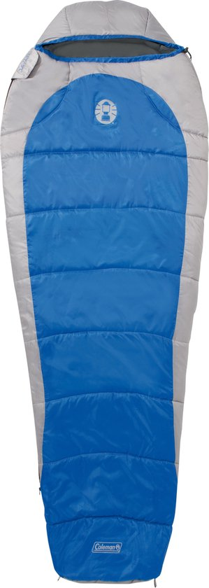 Coleman Silverton Comfort 250 Mummy Slaapzak - 223 x 81 x 55 cm - Blauw/grijs