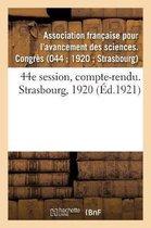 44e session, compte-rendu. Strasbourg, 1920