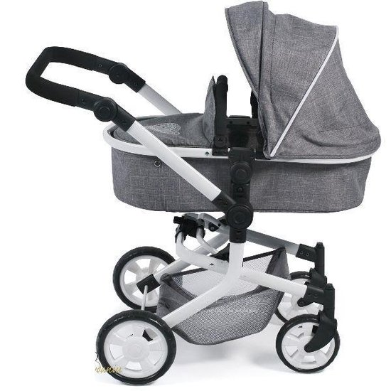 Bayer Chic 2000 - Combi Poppenwagen - Mika Jeans Grey - Bayer Chic 2000