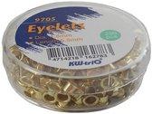 Messing, roestvrije oogjes - 5.5mm/tot 30 vel - 3 Doosjes