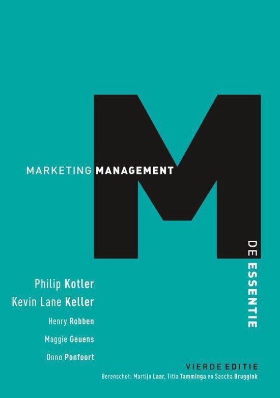 Marketingmanagement, de essentie, 4e editie - Philip Kotler pdf epub