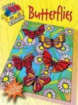 3-D Coloring Book - Butterflies