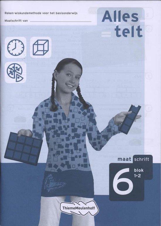 Boek cover Alles telt / Blok 1+2 / deel Maatschrift 6 van Els van den Bosch-Ploegh (Paperback)