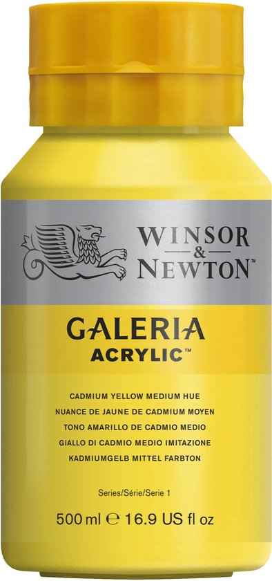 Winsor & Newton Galeria Acrylverf 500ml 120 Cadmium Yellow Medium Hue