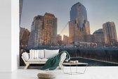 Fotobehang vinyl - Grote gebouwen om het September 11 Memorial breedte 330 cm x hoogte 220 cm - Foto print op behang (in 7 formaten beschikbaar)