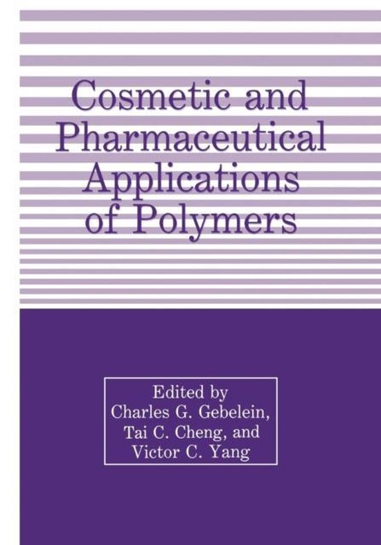 Boek cover Cosmetic and Pharmaceutical Applications of Polymers van  (Paperback)