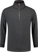 Tricorp Sweater ritskraag - Casual - 301010 - Antracietgrijs - maat XL