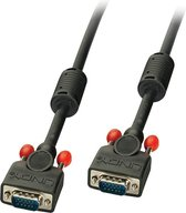 Lindy 36371 VGA kabel 0,5 m VGA (D-Sub) Zwart