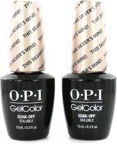O.P.I GelColor Neon Nagellak - This Silver's Mine (2 Stuks)