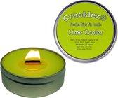 4 stuks Cracklez® Knetter Houten Lont Geur Kaarsen in blik Lime Cooler. Limoen Geur. Lime.