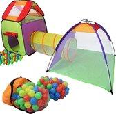Ballenbad met 200 ballen en speeltenten