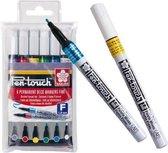 SAKURA Pen-Touch | Decoratiestiften met fijne punt (6 kleuren)