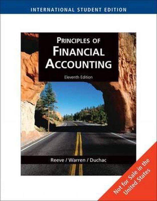 Boek cover Principles of Financial Accounting van Carl Warren (Paperback)