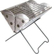 Mini Flatpack Grill & Firepit - Vuurkorf en Grill in één - RVS Opklapbare Grill & Go Compacte Vuurkorf Opvouwbare Uco Flatpack Lichtgewicht Grill BBQ Barbecue Vuurmand + Handige Draagtas