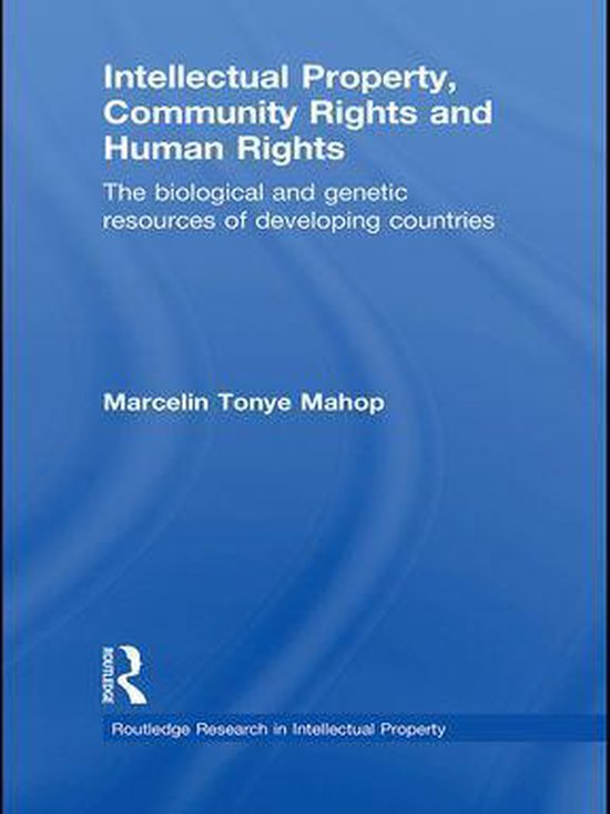 Omslag van Intellectual Property, Community Rights and Human Rights