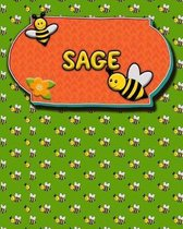 Handwriting Practice 120 Page Honey Bee Book Sage