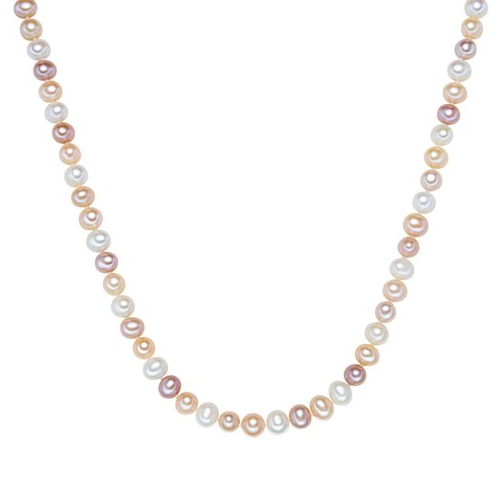 Valero Pearls Zilveren ketting Sterling zilver Gekweekte zoetwaterparels wit