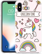 Apple iPhone Xs Max Hoesje Unicorn Time