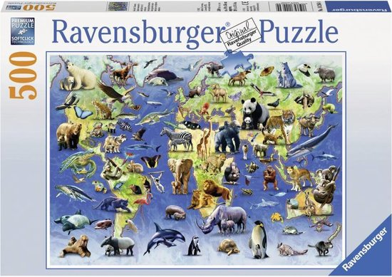 Ravensburger Bedreigde diersoorten - Puzzel