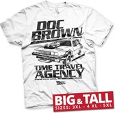BACK TO THE FUTURE - T-Shirt Big & Tall - Doc Brown Time Agency (3XL)