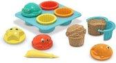 Zand speelgoed cupcake setje