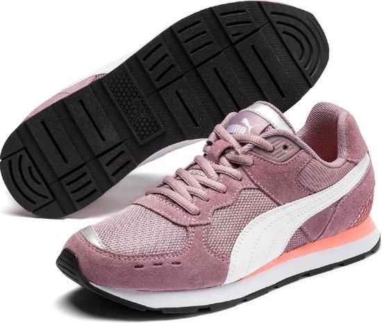 PUMA Vista Jr Sneakers Kinderen - Elderberry / Puma White - Maat 39
