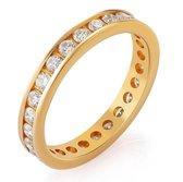 Orphelia RD-310460/DJ/54 - Ring - geelgoudkleurige 18 Karaat - Diamant 1.17 ct
