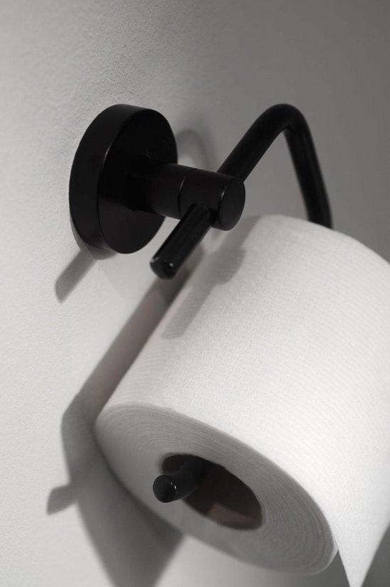 Haceka Kosmos Zwart Toiletrolhouder