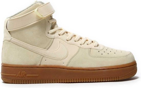 nike dames air force 1 hi suede beige