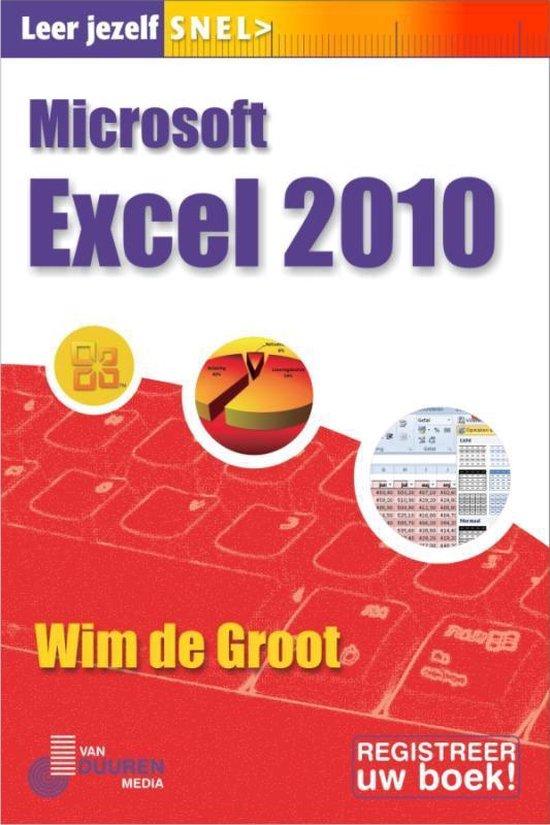 Excel 2010, Leer jezelf SNEL - W. De Groot |