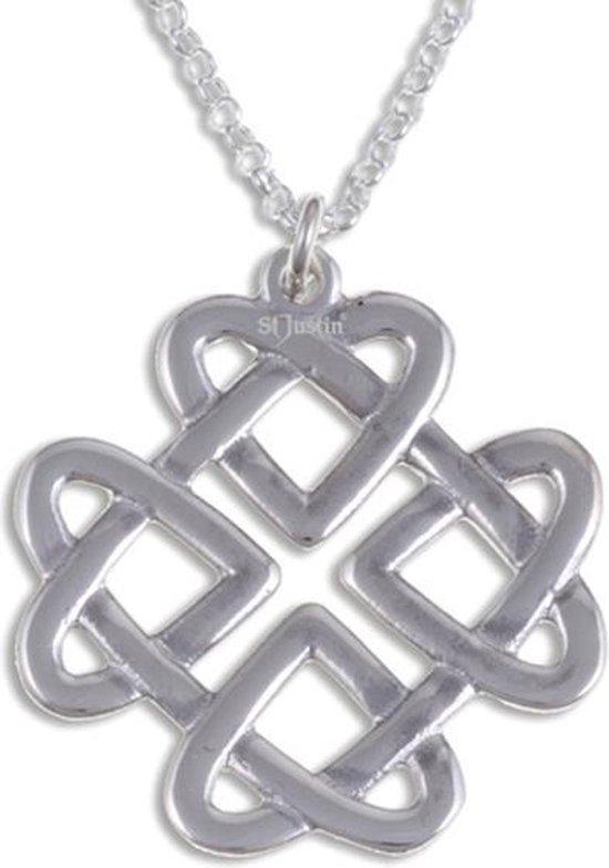 Keltische liefde knoop Zilveren hanger