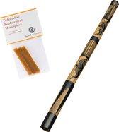 Didgeridoo van bamboo 120cm inclusief bijenwas voor mondstuk didjeridoo