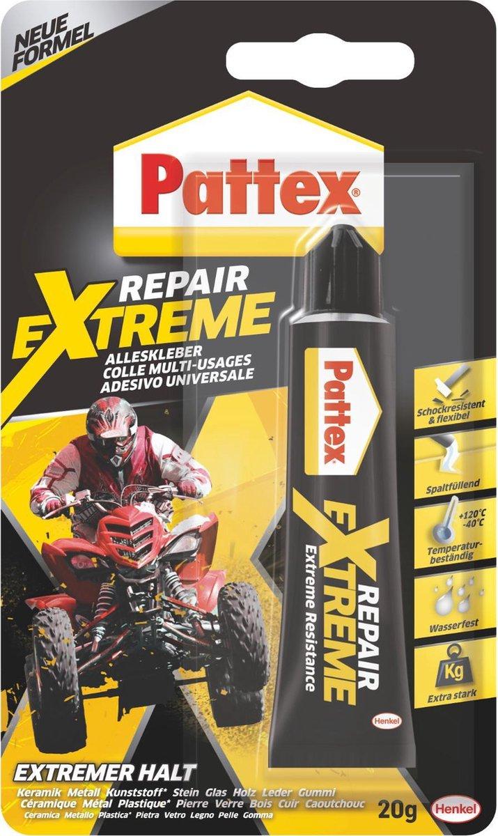 Pattex Reparatielijm - 100 % Repair - Extreme - Universeel - 20 Gram - Pattex
