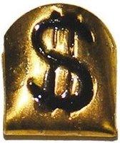 Gouden tand met dollar teken