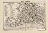 Historische kaart, plattegrond van gemeente Rotterdam-stad in Zuid Holland uit 1867 door Kuyper van Kaartcadeau.com