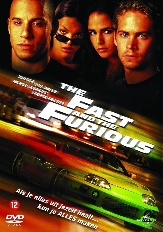 Cover van de film 'The Fast And The Furious'