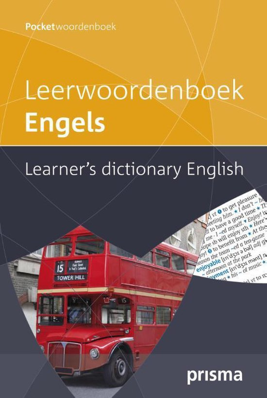 Cover van het boek 'Prisma leerwoordenboek Engels'