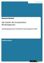 Boek cover Die Länder der Sowjetischen Besatzungszone van Ramona Bechler