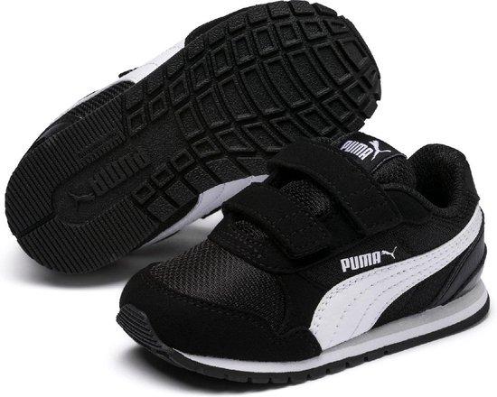 PUMA ST Runner v2 Mesh V PS Sneakers Kinderen - Puma Black / Puma White /  Gray Violet