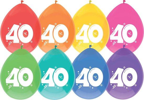 Ballonnen - 40 jaar - 8 stuks
