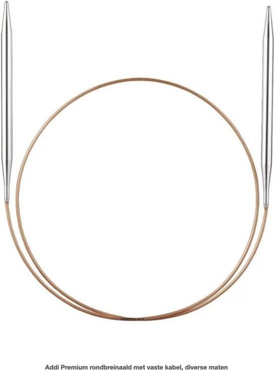Addi Premium rondbreinaald met vaste kabel, diverse maten - 2.0 mm 80 cm