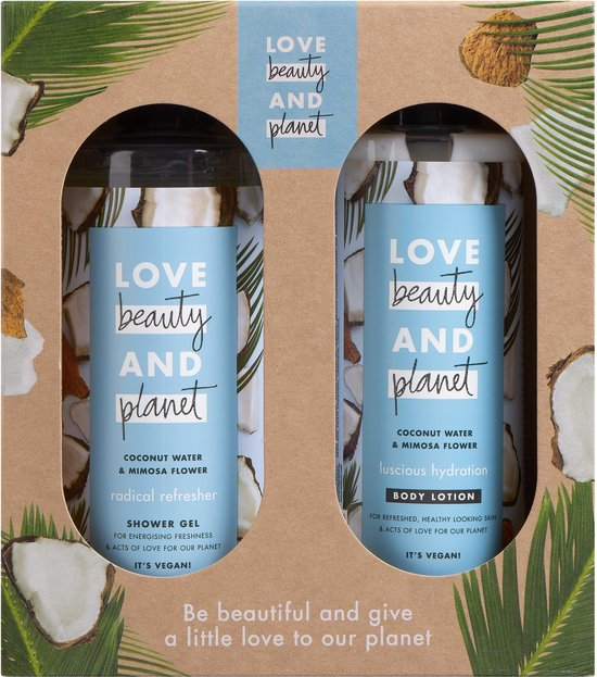 Love Beauty and Planet Coconut Water & Mimosa Flower Duo Geschenkset