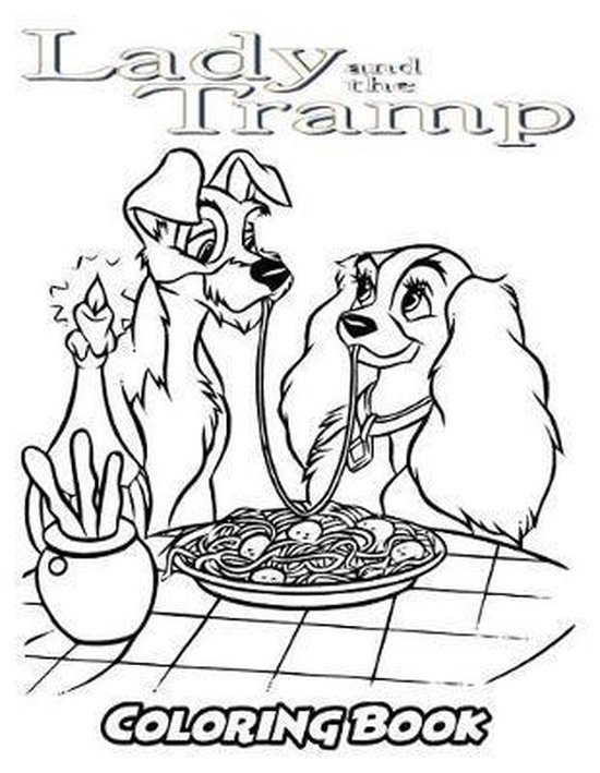 Bol Com Lady And The Tramp Coloring Book Alexa Ivazewa 9781729783498 Boeken