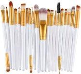 Evvie Professionele Make-up Kwasten - Kwastenset - Zwart - 20 stuks