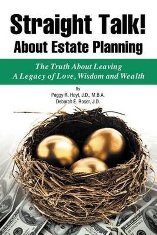 Boek cover Straight Talk! about Estate Planning van Peggy R Hoyt (Paperback)