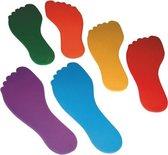 Vloermarkeringen - 6x voeten - vloermarkering